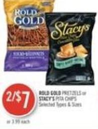 Rold Gold Pretzels or Stacy's Pita Chips