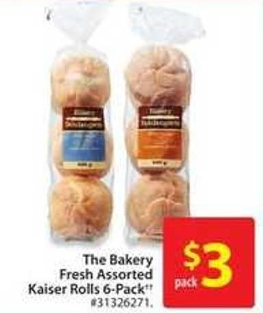 The Bakery Fresh Assorted Kaiser Rolls 6-pack