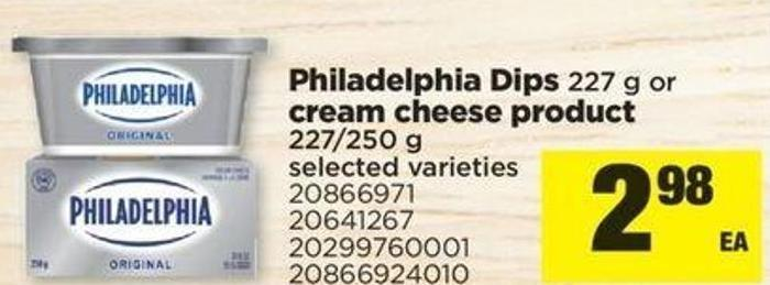 Philadelphia Dips - 227 G Or Cream Cheese Product - 227/250 G