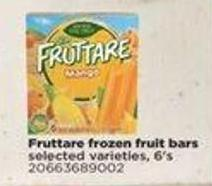 Fruttare Frozen Fruit Bars - 6's