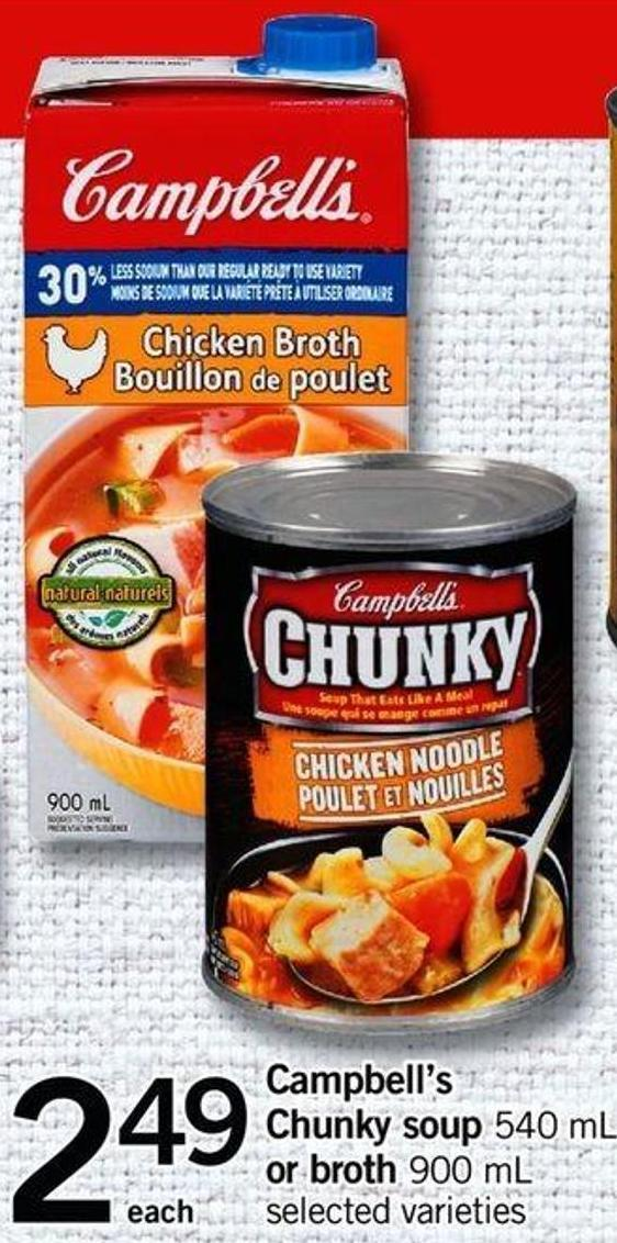 Campbell's Chunky Soup - 540 mL Or Broth - 900 mL