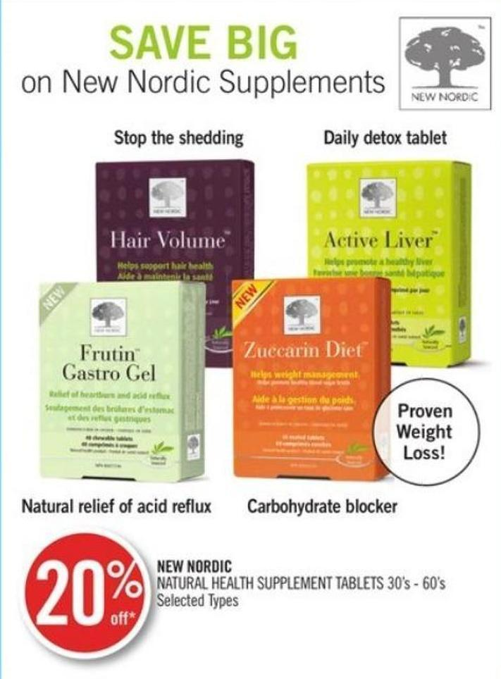 New Nordic Natural Health Supplement Tablets