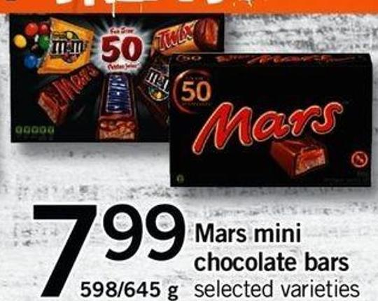 Mars Mini Chocolate Bars - 598/645 G