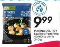 Ocean Wise Marina Del Rey Scallops From Peru 40/60 Ct Per Lb 340 g