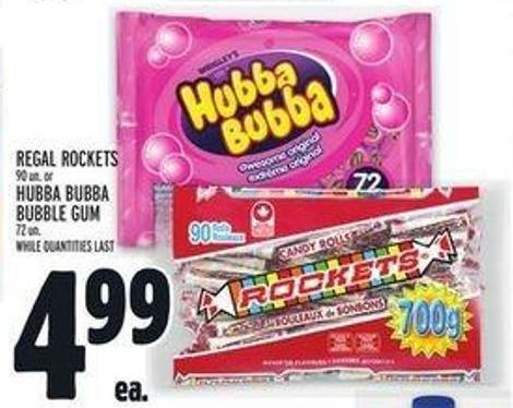 Regal Rockets Or Hubba Bubba Bubble GUM