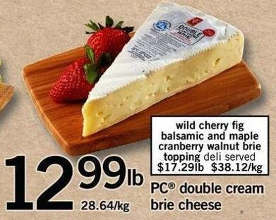 PC Double Cream Brie Cheese
