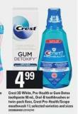 Crest 3D White - Pro-health Or GUM Detox Toothpaste - 90 Ml - Oral-b Toothbrushes Or Twin-pack Floss - Crest Pro-health/scope Mouthwash - 1 L