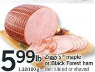Ziggy's Maple Or Black Forest Ham - 1.32/100 G