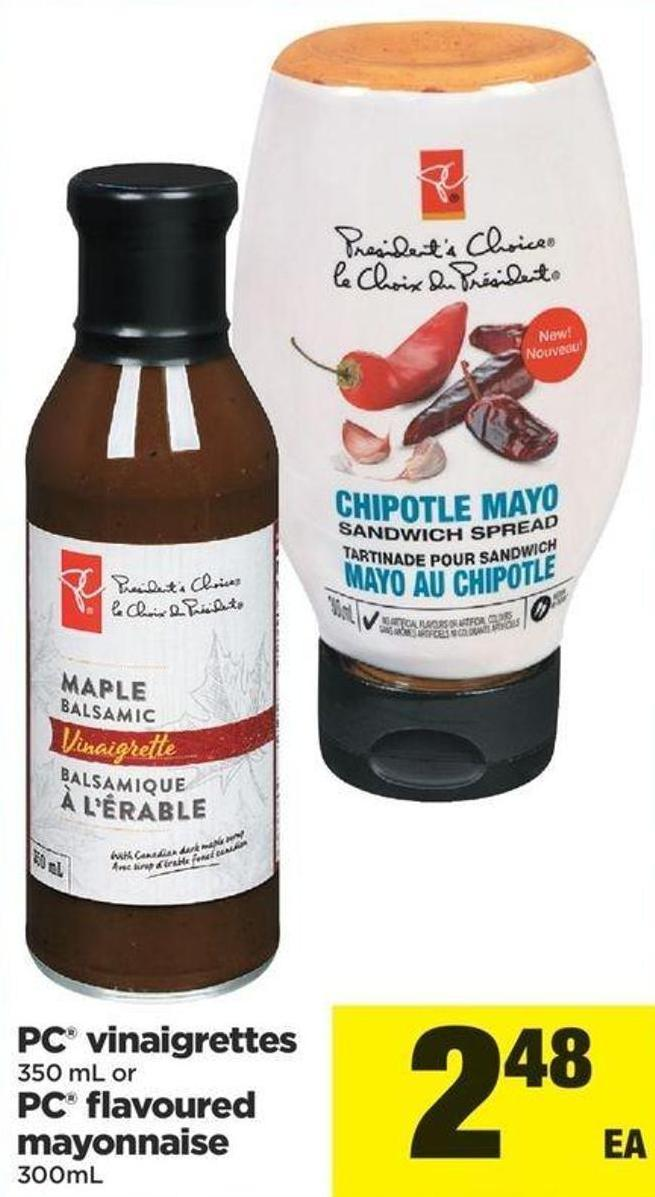 PC Vinaigrettes - 350 Ml Or PC Flavoured Mayonnaise - 300ml
