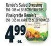 Renée's Salad Dressing 350 - 355 mL