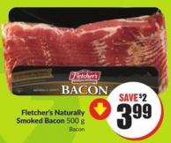 Fletcher's Naturally Smoked Bacon 500 g