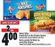 Nature Valley Granola Bars Or Rice Krispies Squares