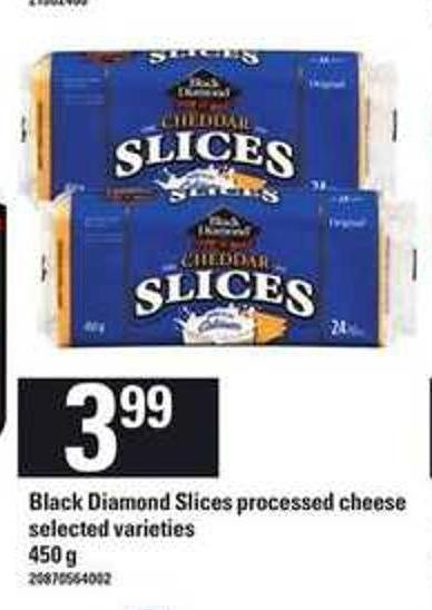 Black Diamond Slices Processed Cheese - 450 g