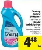 Downy Fabric Softener - 1.23-1.53 L Or Liquid Wrinkle Free - 740 Ml