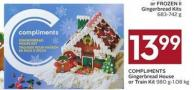 Compliments Gingerbread House or Train Kit