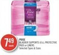 Poise Bladder Supports (6s) Protective Pads or Liners
