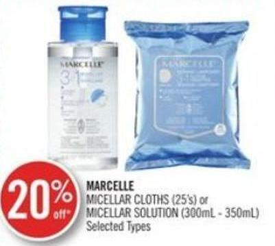 Marcelle Micellar Cloths (25's) or Micellar Solution (300ml - 350ml)