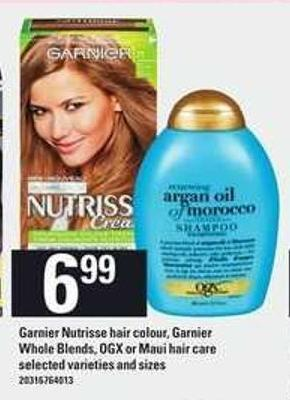 Garnier Nutrisse Hair Colour - Garnier Whole Blends - Ogx Or Maui Hair Care