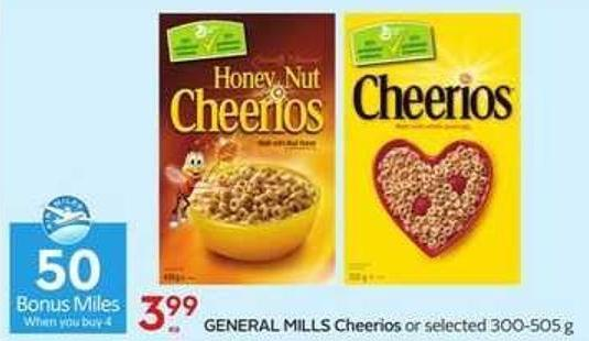 General Mills Cheerios - 50 Air Miles Bonus Miles