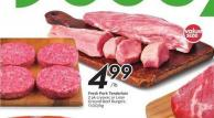 Fresh Pork Tenderloin 2 Pk Cryovac or Lean Ground Beef Burgers