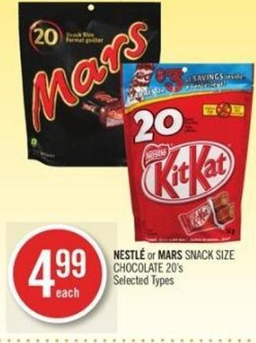 Nestlé or Mars Snack Size Chocolate