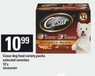 Cesar Dog Food Variety Packs - 12's