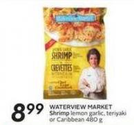 Waterview Market Shrimp Lemon Garlic - Teriyaki or Caribbean 480 g