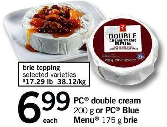PC Double Cream - 200 G Or PC Blue Menu - 175 G Brie