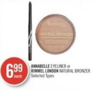 Annabelle Eyeliner or Rimmel London Natural Bronzer