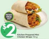 Kitchen Prepared Mini Chicken Wraps