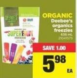 Deebee's Organics Freezies - 636 mL