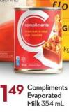 Compliments Evaporated Milk