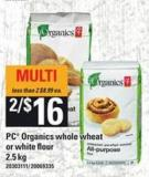PC Organics Whole Wheat Or White Flour - 2.5 Kg
