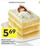 Real Cream Layered Lemon Shortcake 300 g