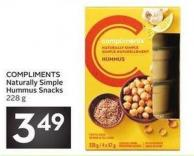 Compliments Naturally Simple Hummus Snacks