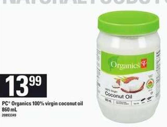 PC Organics 100% Virgin Coconut Oil - 860 Ml