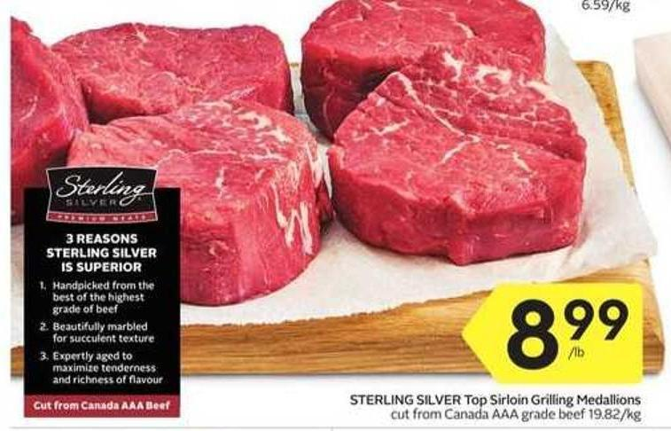 Sterling Silver Top Sirloin Grilling Medallions
