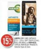 Lakota Joint Care Capsules (75's - 120's) Soft Touch (57ml) - Roll-on (88ml) or Ruba535 Topical Pain Relief Products
