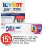 Voltaren Emulgel (100g - 150g) - Aspercreme (106g) or Icy Hot Topical Pain Relief Products
