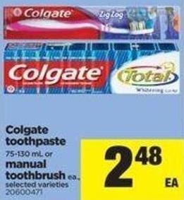 Colgate Toothpaste - 75-130 Ml Or Manual Toothbrush