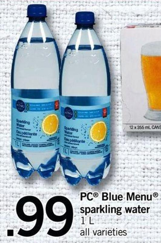 PC Blue Menu Sparkling Water - 1 L