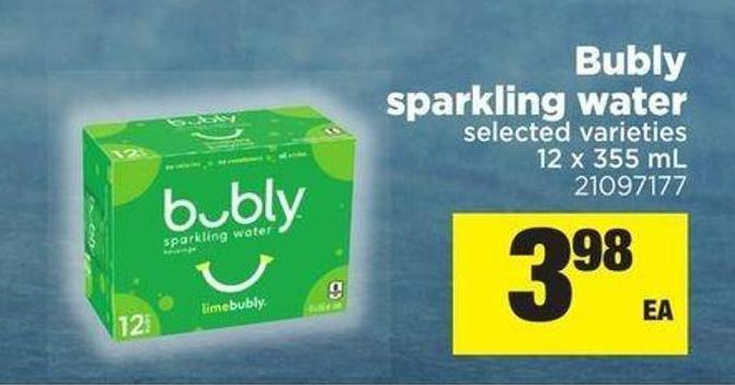 Bubly Sparkling Water - 12 X 355 Ml
