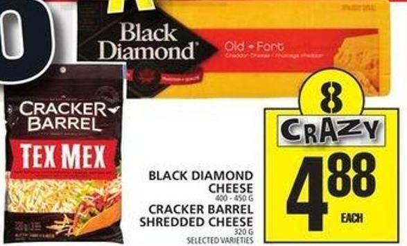 Black Diamond Cheese Or Cracker Barrel Shredded Cheese