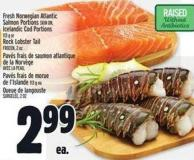Fresh Norwegian Atlantic Salmon Portions Skin On - Icelandic Cod Portions 113 G Or Rock Lobster Tail Frozen - 2 Oz