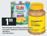 Dole Pineapple - Ocean Spray Cranberry Sauce Or No Name Applesauce - 348-650 mL