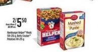 Hamburger Helper Meals 159-255 G - Betty Crocker Potatoes - 141-215 G