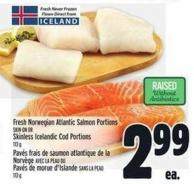 Fresh Norwegian Atlantic Salmon Portions Skin On Or Skinless Icelandic Cod Portions 113 g