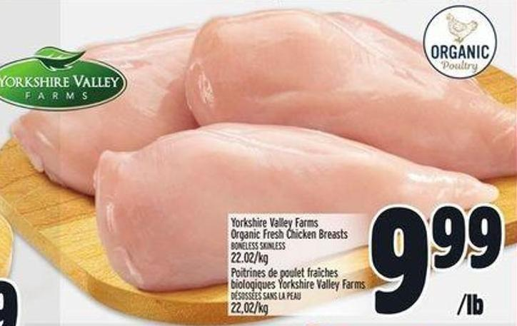 Yorkshire Valley Farms Organic Fresh Chicken Breasts