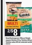 Smartfood Popcorn 156 G Or Simply Organic Doritos 213 G - Tostitos 240 G Or Tostitos Salsa 423 Ml