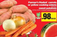 Farmer's Market Carrots Or Yellow Cooking Onions - 3 Lb Bag or Sweet Potatoes